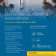 SD Tech Scene Partner Discount for UCSD's Essentials of Entrepreneurship & Innovation Course